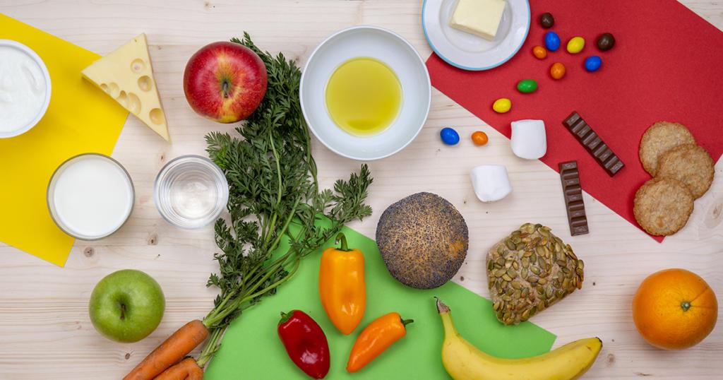 Freche Ernährungspyramide für Kinder