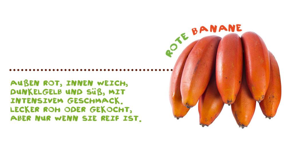 Alles über Bananen - rote Banane