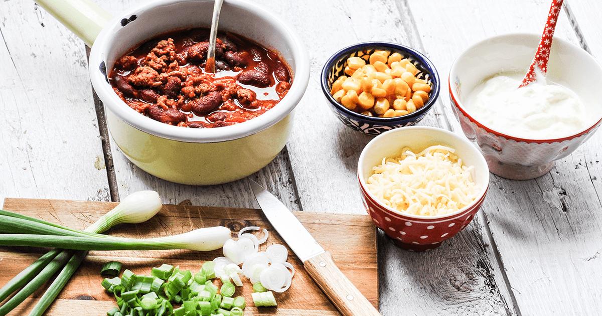 Chili con Carne für Kinder - Freche Toppings