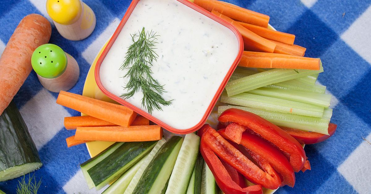 Freche Gemüsesticks mit Dip