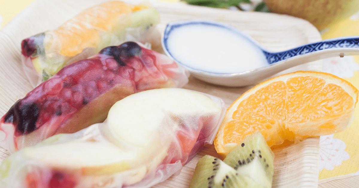 Olgas süße Reispapierrollen mit Früchten