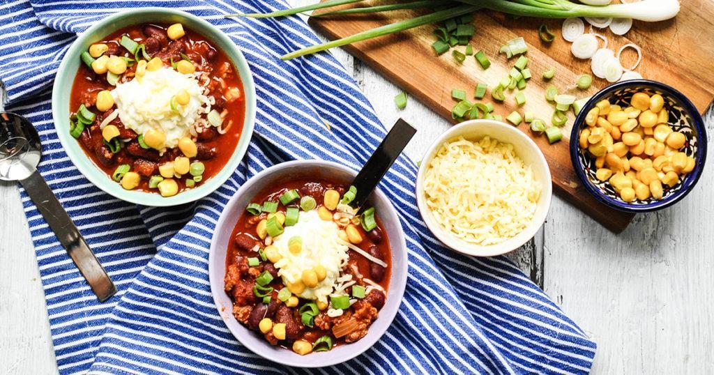 Chili Con Carne-Suppen für Kinder