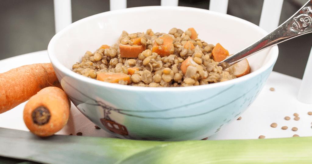 Laras Linseneintopf -Suppen für Kinder