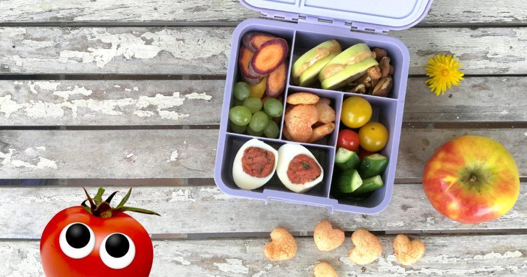 Kita Snackbox Gefülltes Ei und Apfel-Bagel