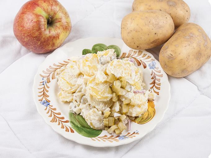 Klaus Kartoffelsalat mit Apfel
