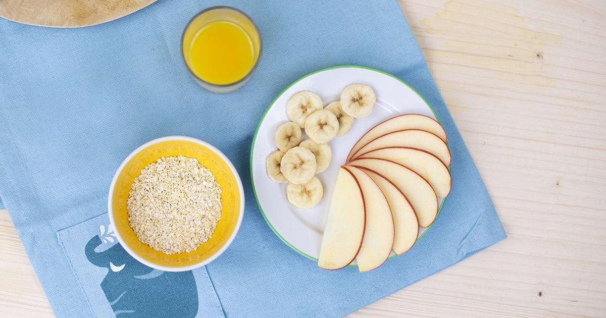 Alfreds Apfel Bananen Brei Vorbereitung