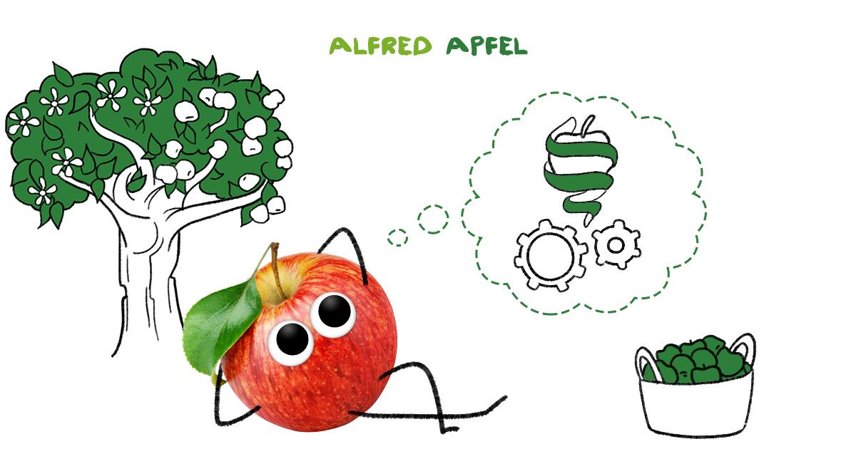 Alfred Apfel, der Schlaukopf