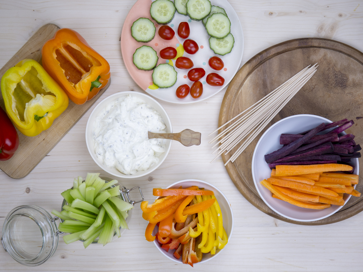 Pippas Gemüsezug Vorbereitung