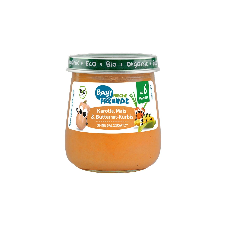 Gemüsebrei Baby Karotte, Mais & Butternut-Kürbis
