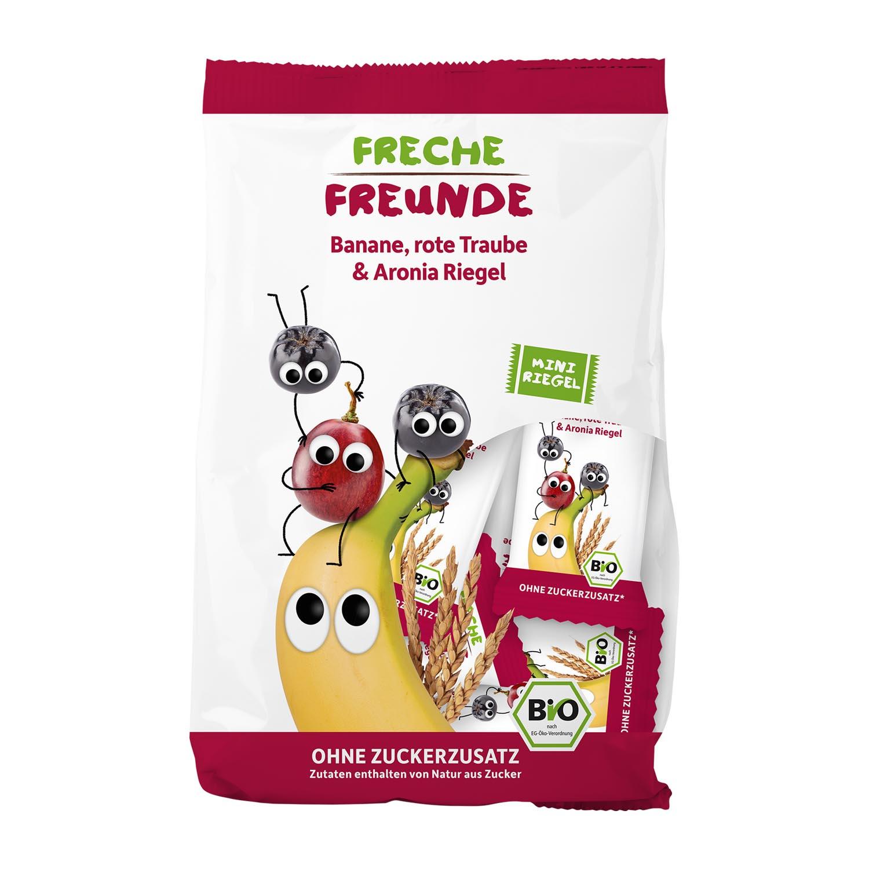 Mini Riegel Banane, rote Traube & Aronia 8er Pack