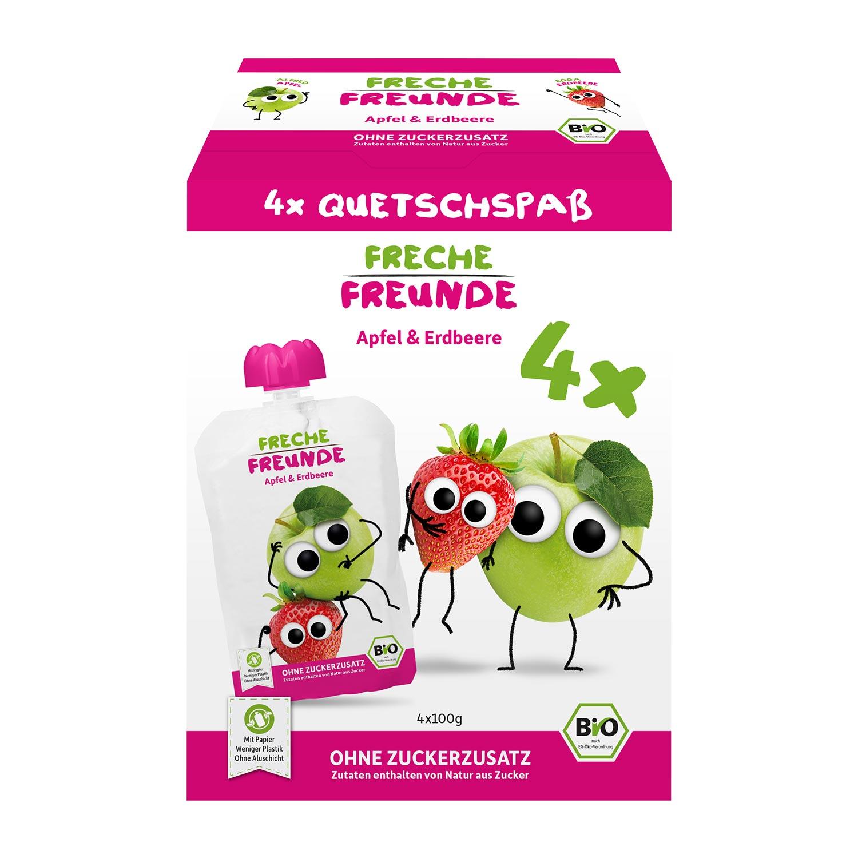 Quetschie Apfel & Erdbeere 4er Pack