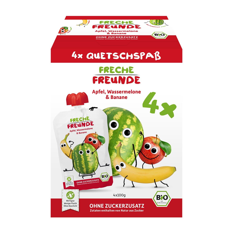 Quetschie Apfel, Wassermelone & Banane 4er Pack