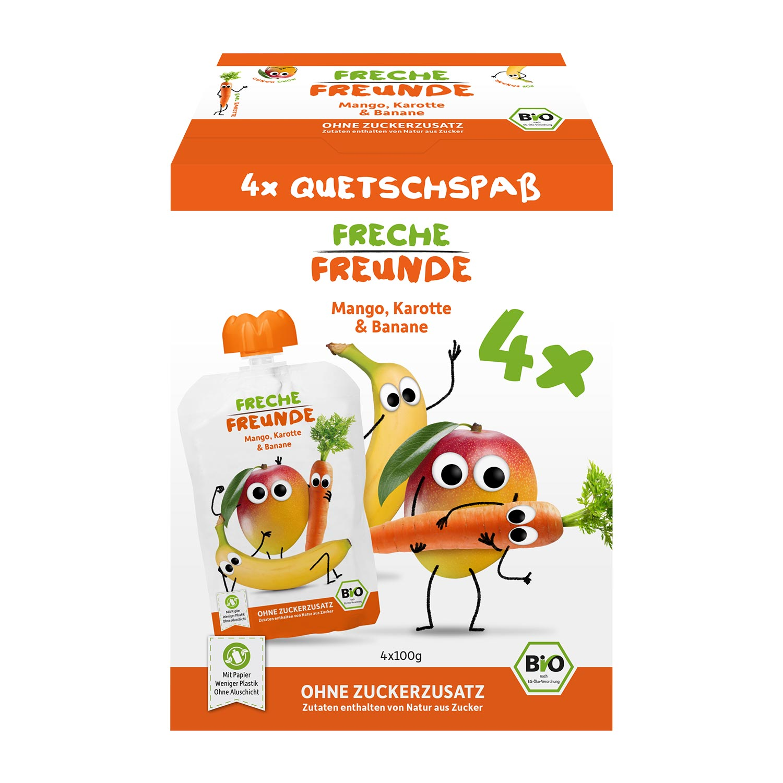 Quetschie  Mango Karotte & Banane 4er Pack