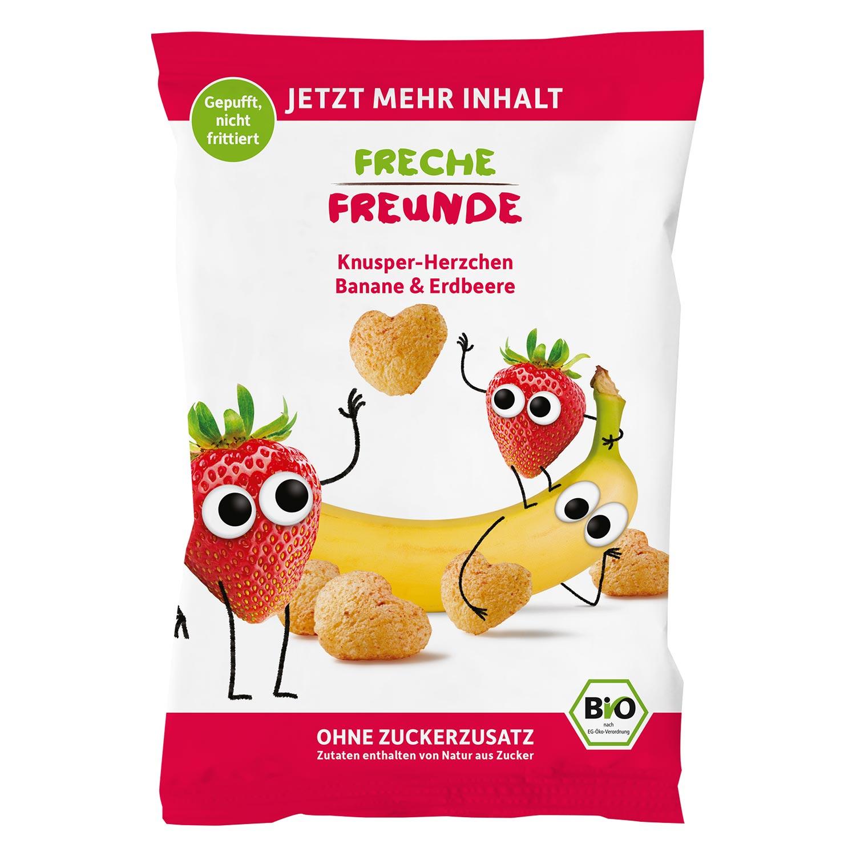 Knusper-Herzchen Banane & Erdbeere