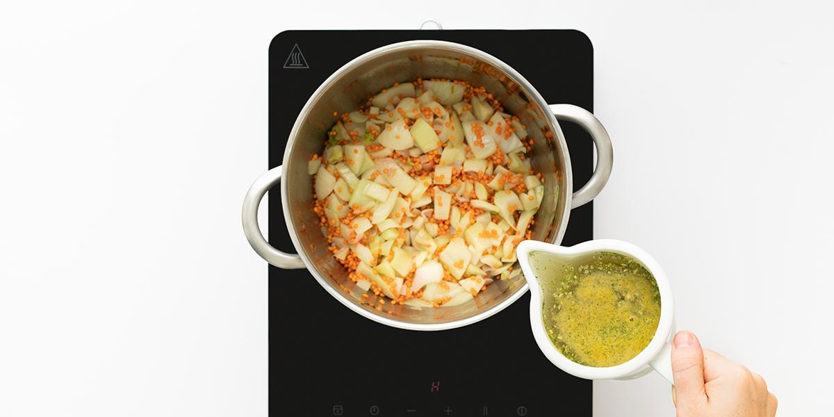 Freche Freunde Fenchel Linsen Suppe Step 2