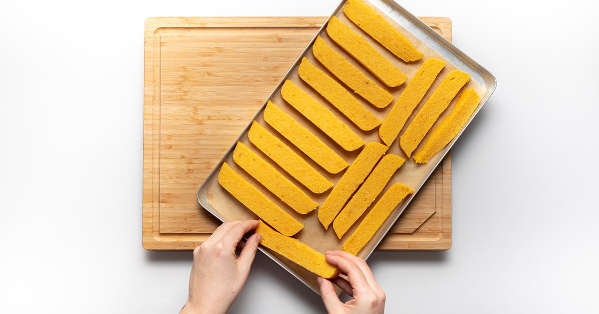 Freche Freunde Süßkartoffel Polenta Sticks